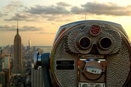 Rockefeller-empire-state-building-skyline-view-new-york-2014