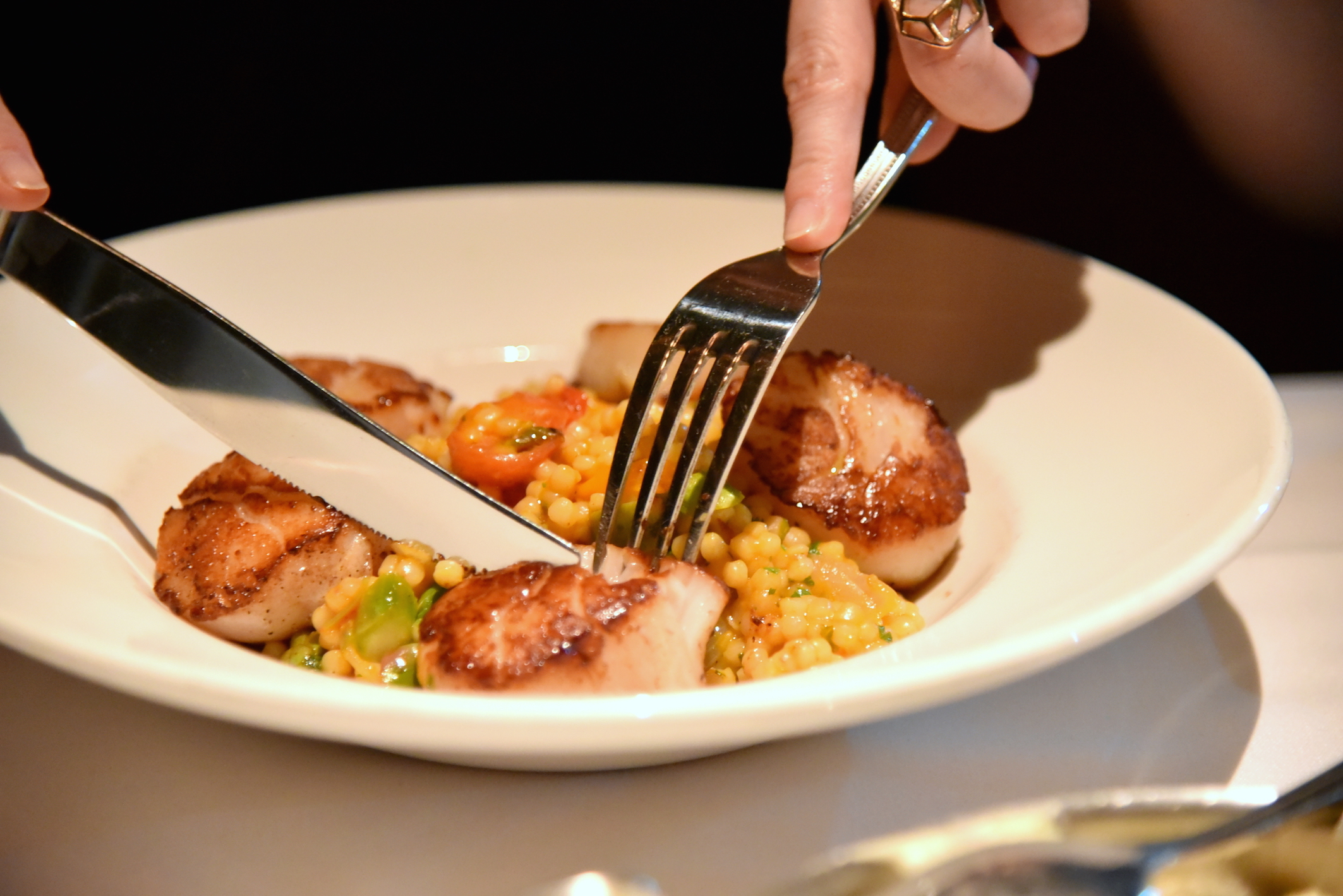 Luxurious dinner at the Capital Grille in New York
