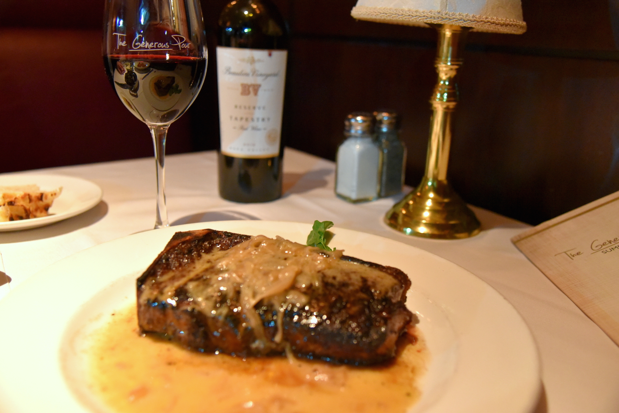 Dining at the Capital Grille in New York