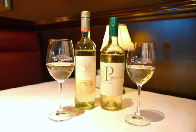 Wine selection at the Capital Grille New York