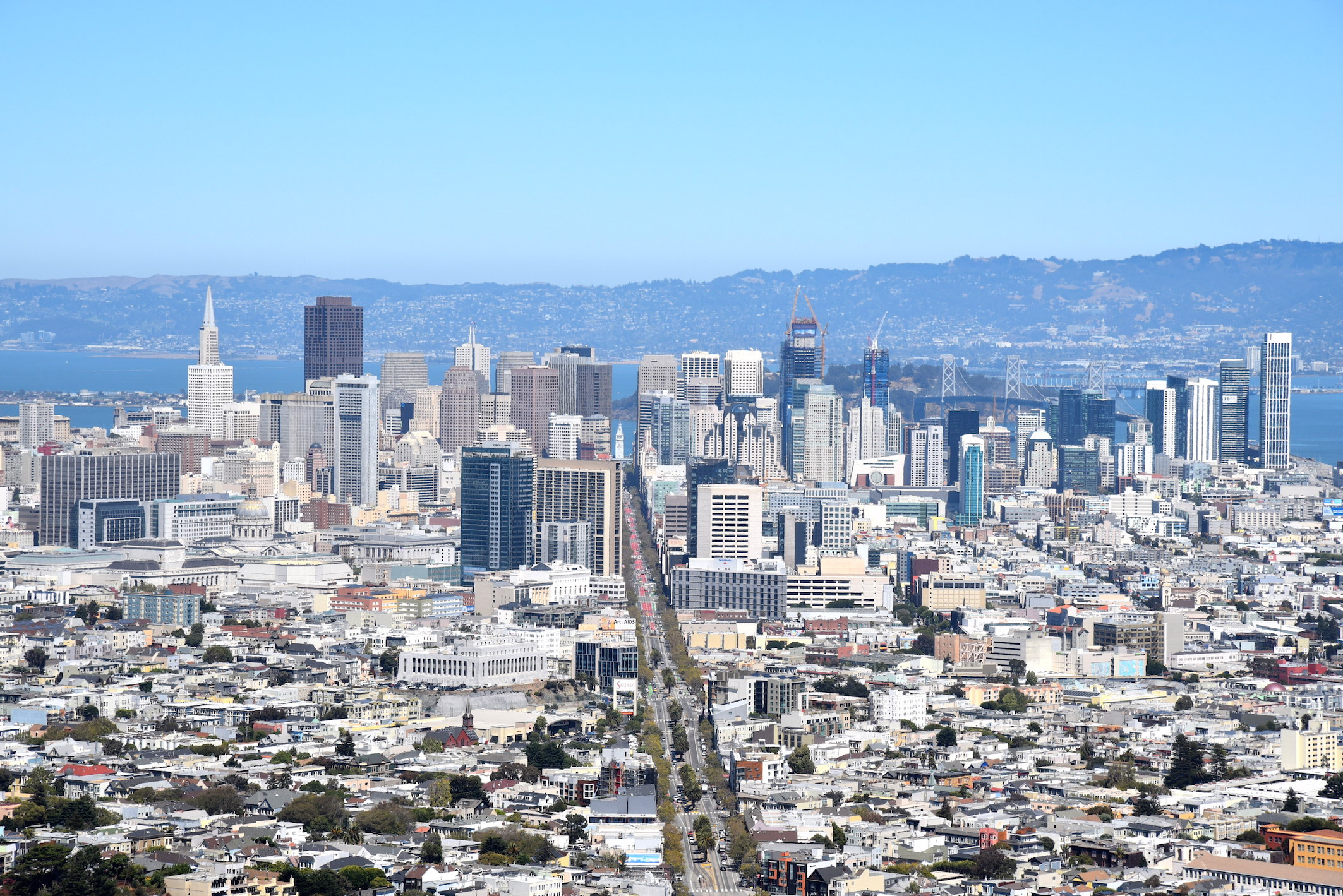 San Francisco Downtown skyline from Twin Peaks