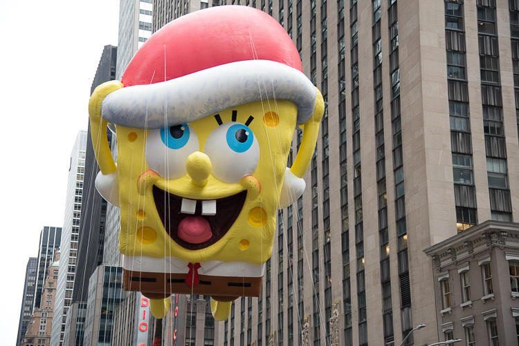 Sponge bob at the Thanksgiving parade in New York