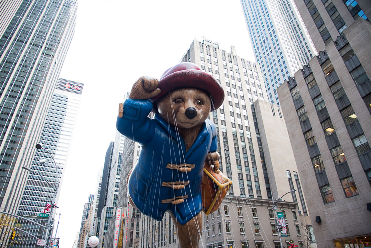 Paddington Macy's Parade Thanksgiving New York 2016