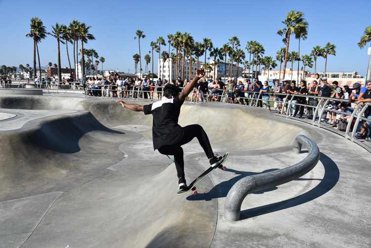 Skateboarding in Venice Beach California