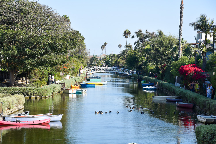 Venice Canals in Los Angeles California