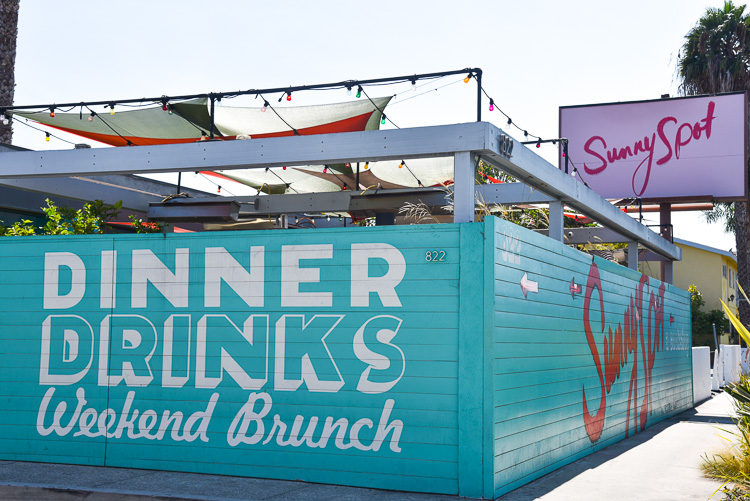 Sunny spot Brunch in Venice Beach Los Angeles