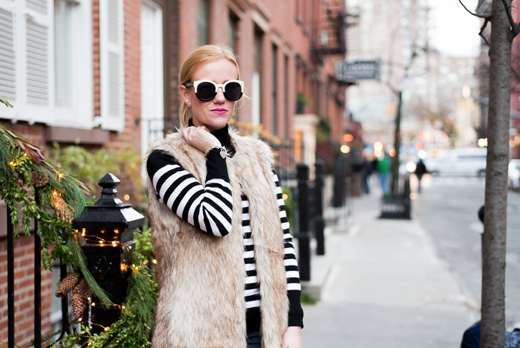 Banana republic stripe sweater fashion blogger NYC mybigapplecity