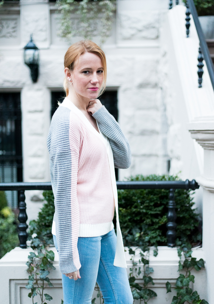 OOTD Pastel Pink Colorblock sweater