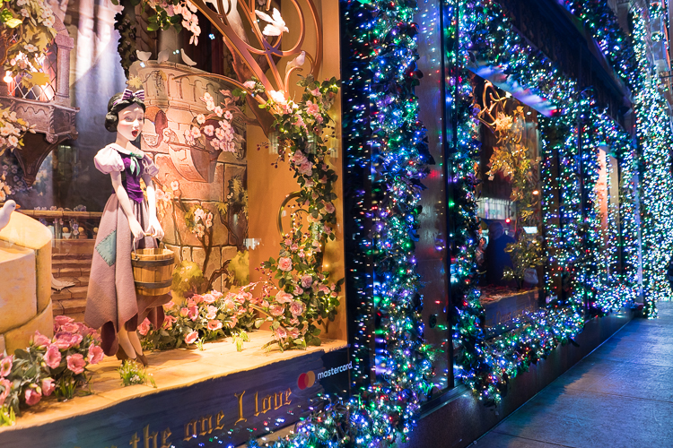Saks Fifth avenue NYC Holiday window